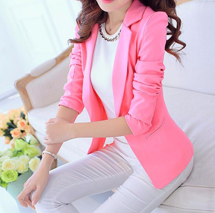 Blazer – Female Elegant Solid Color Blazer | Zorket