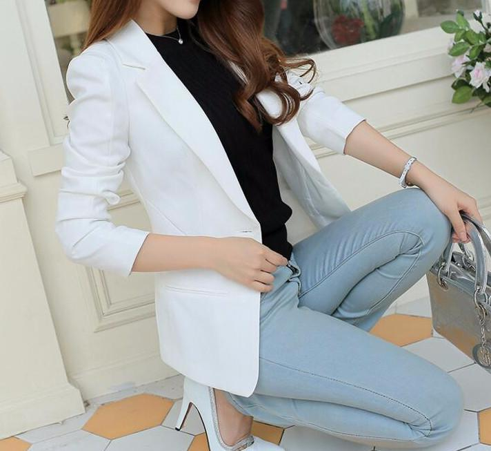 Female Solid Color Blazer