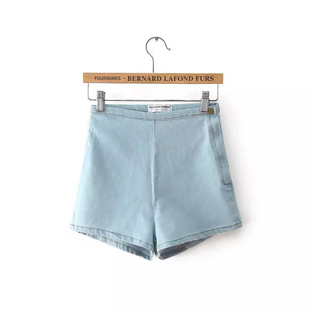 Stylish Female High Waist Denim Shorts - Zorket