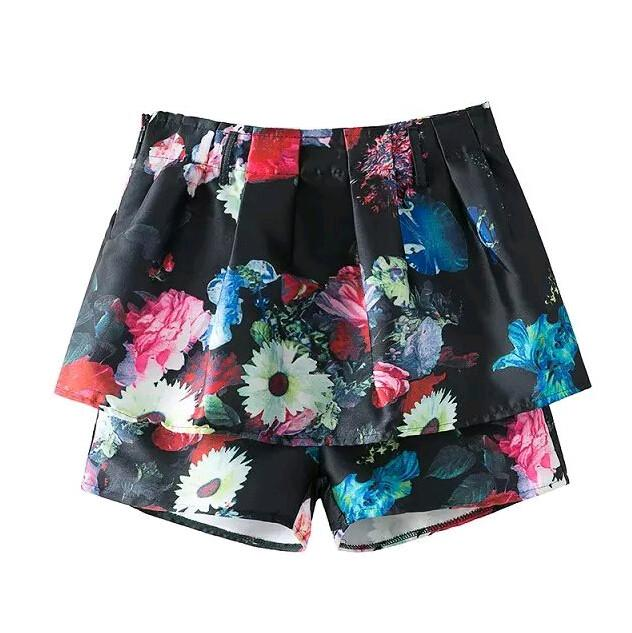 Women's Dress Shorts With Flowers