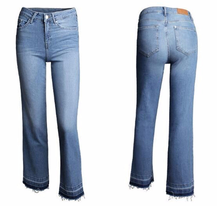 Jeans – Ladies Cotton Stretch Ankle-Length Denim Pants | Zorket