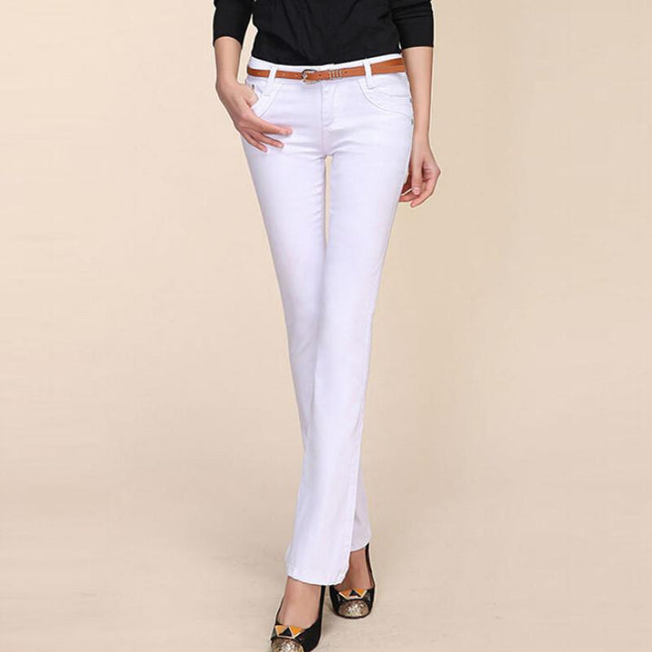 Women's Long Formal / Casual Denim Trousers