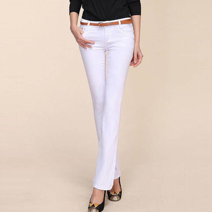 Women's Long Formal / Casual Denim Trousers - Zorket