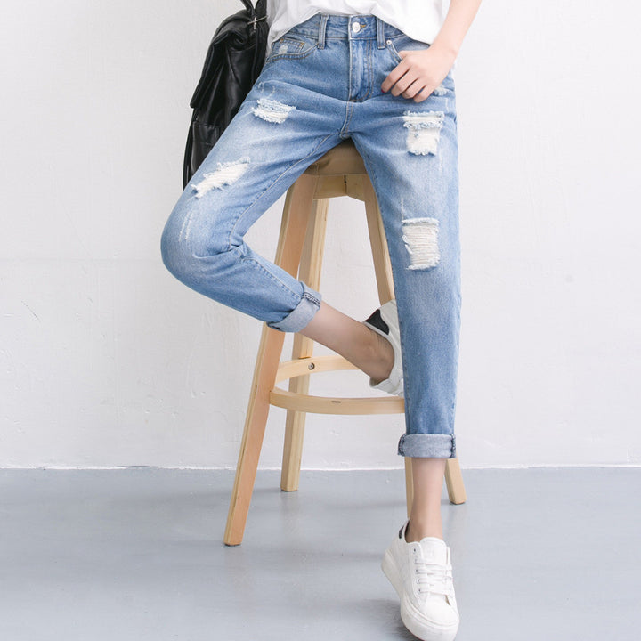 Summer Ripped Women's Boyfriend Jeans - Zorket