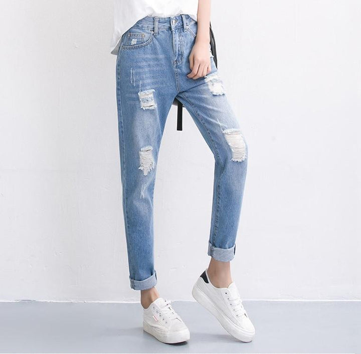 Women's Summer Ripped Boyfriend Jeans