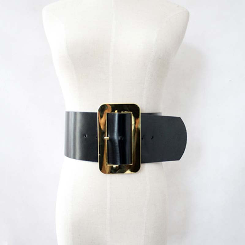 Belt – Female Metal Big Square Buckle PU Leather Belt | Zorket
