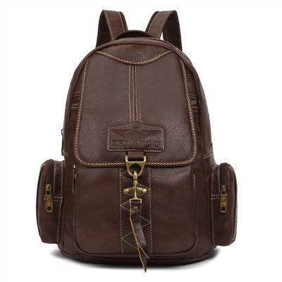 Woman's Fashion PU Leather Backpack - Zorket