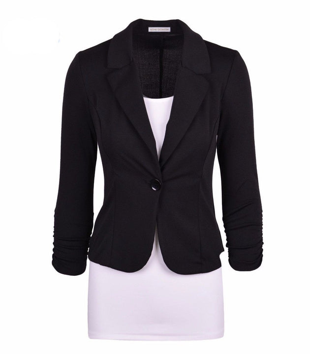Women's Solid Color Comfortable Blazer
