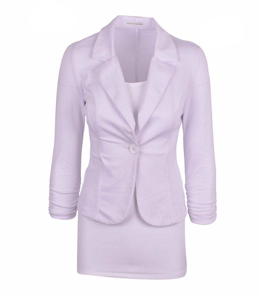 Women's Solid Color Comfortable Blazer - Zorket