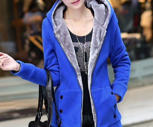 Autumn / Winter Women's Casual Long Sleeved Hooded Sweatshirt