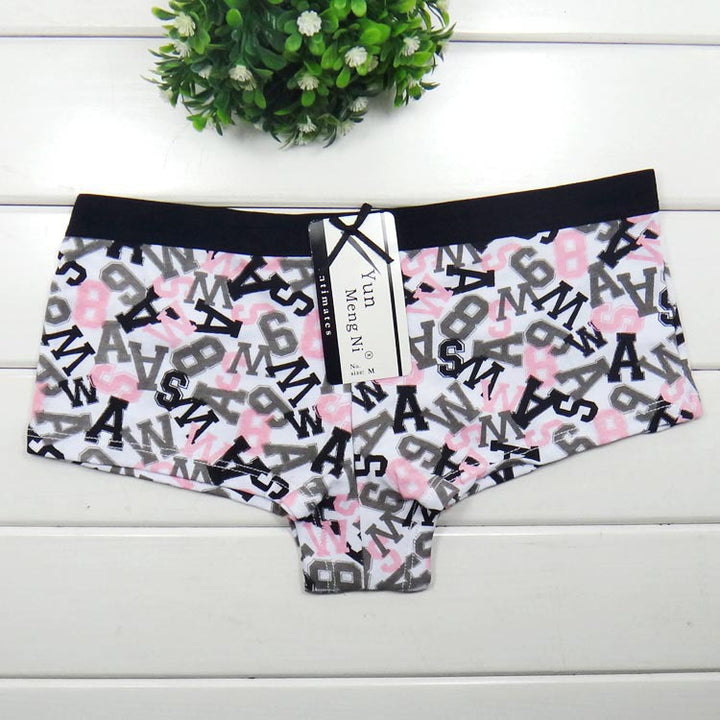 Female Boyshorts With Letter Print - Zorket
