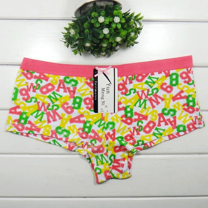Female Boyshorts With Letter Print