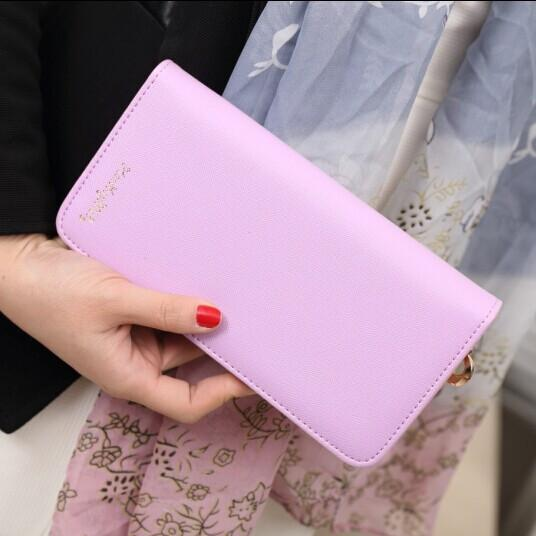 Ladies Elegant Long PU Leather Coin Purse Clutch Wallet