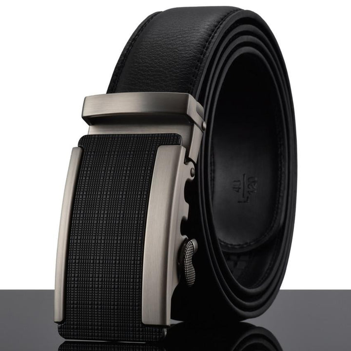 Automatic Buckle Cowhide Leather Men's Belt