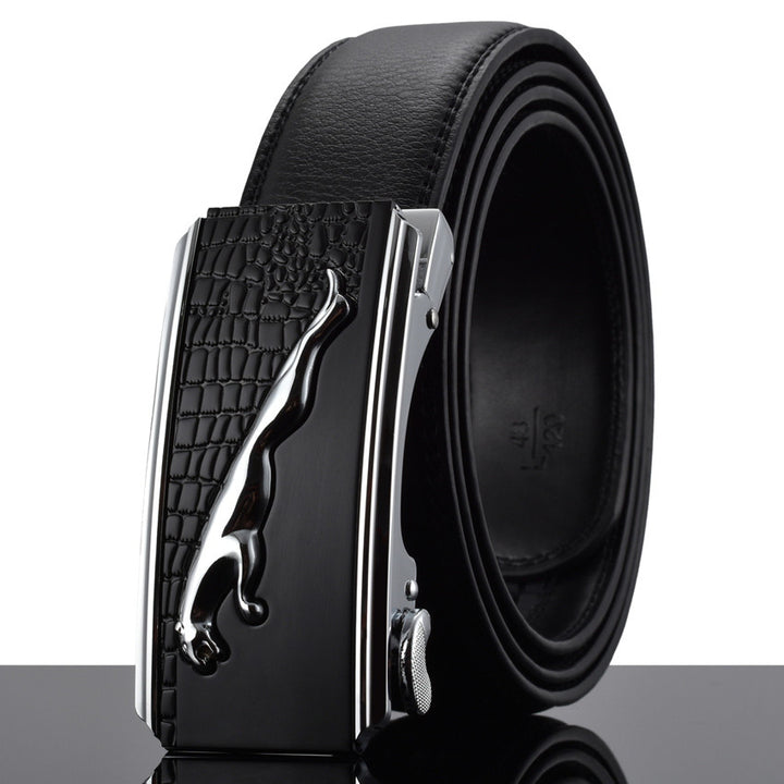 Automatic Buckle Cowhide Leather Men's Belt - Zorket