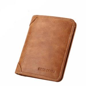 Genuine Leather Retro Brown Wallet For Men