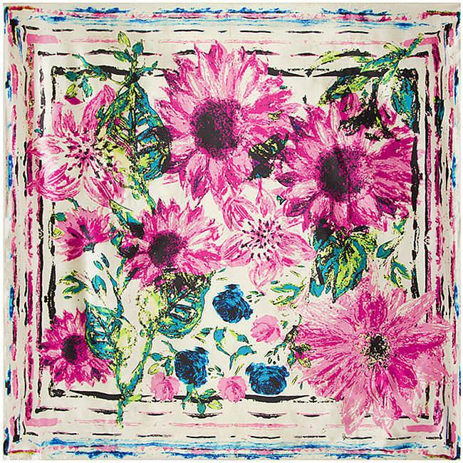 Square Floral Printed Women's Scarf