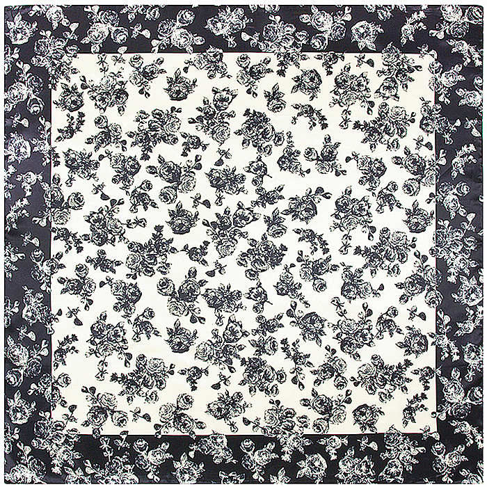 Square Floral Printed Women's Scarf - Zorket