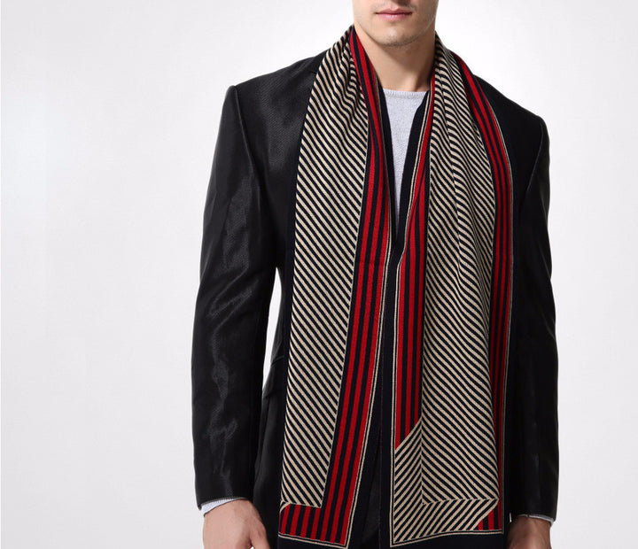 Scarf – Male Wool Stripped Winter Scarf | Zorket