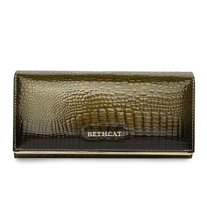 Women's High Quality Leather Long Wallet Purse