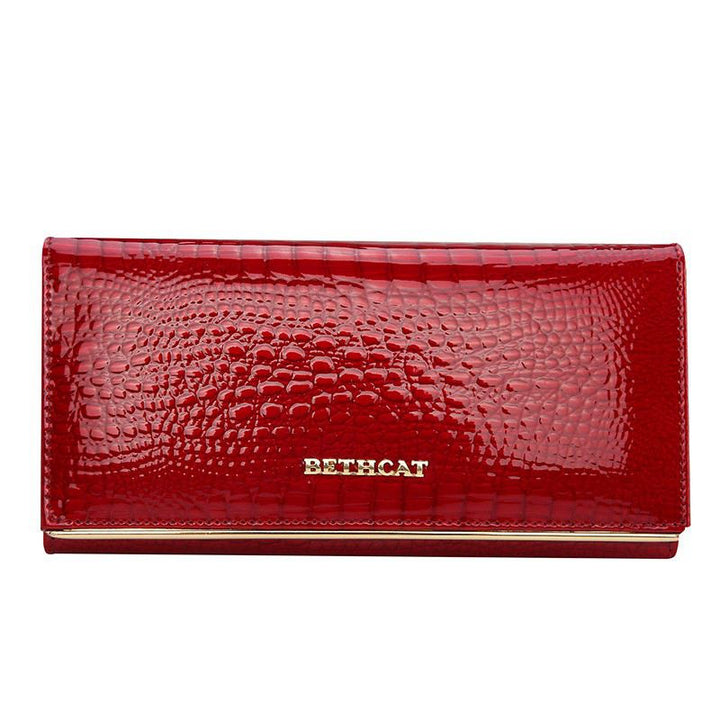 Women's High Quality Leather Long Wallet Purse - Zorket
