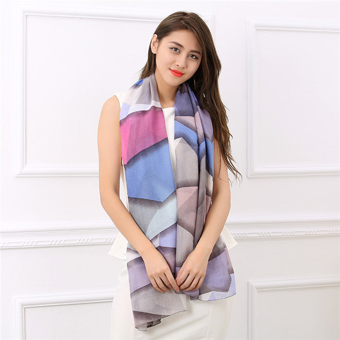 Cotton Women's Long Soft Breathable Shawl Scarf - Zorket