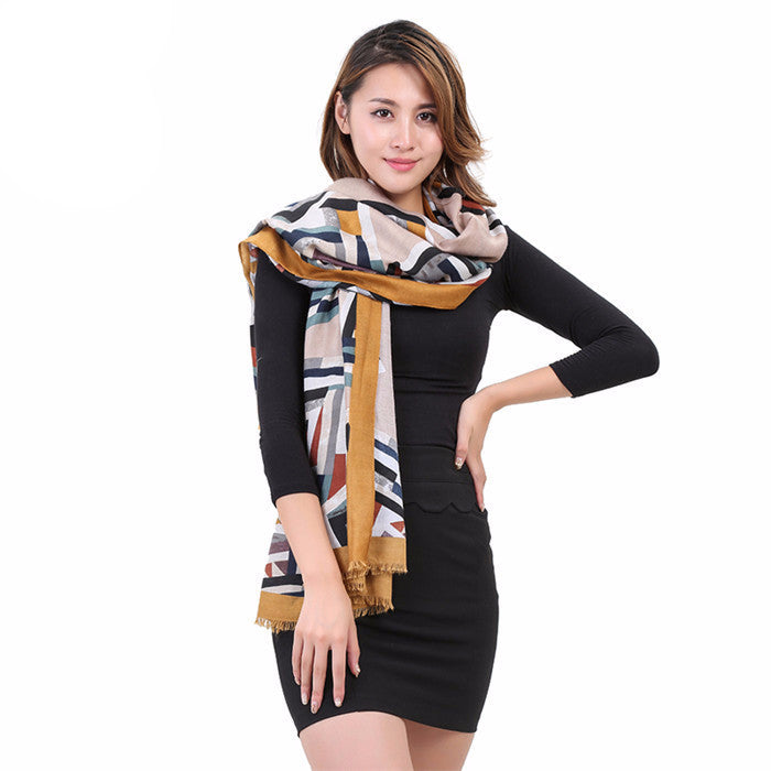 Women's Cotton Wool Winter Scarf - Zorket