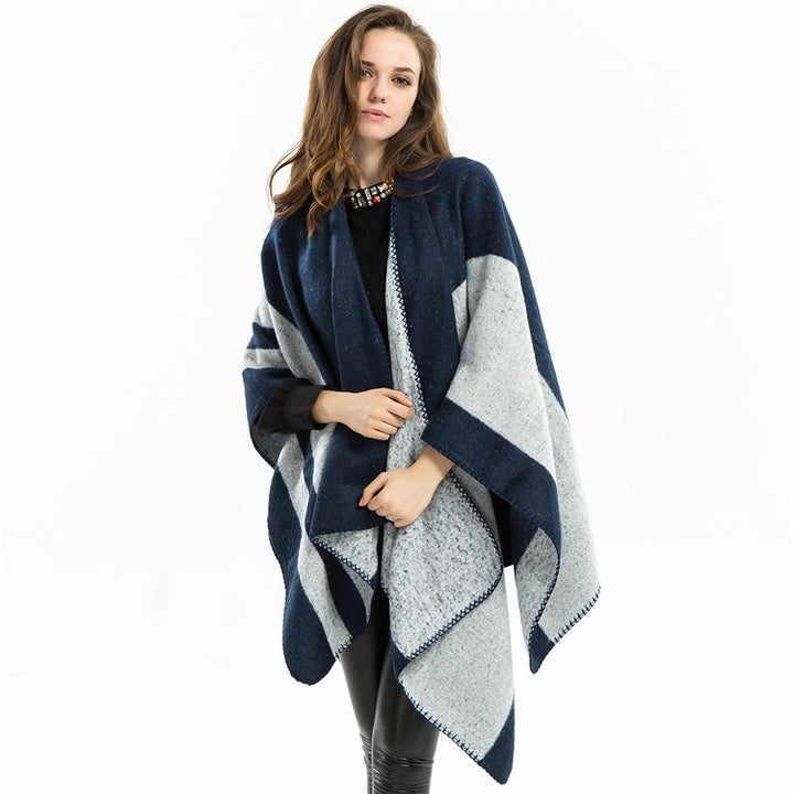 Women's Pashmina Cashmere Warm Winter Poncho - Zorket