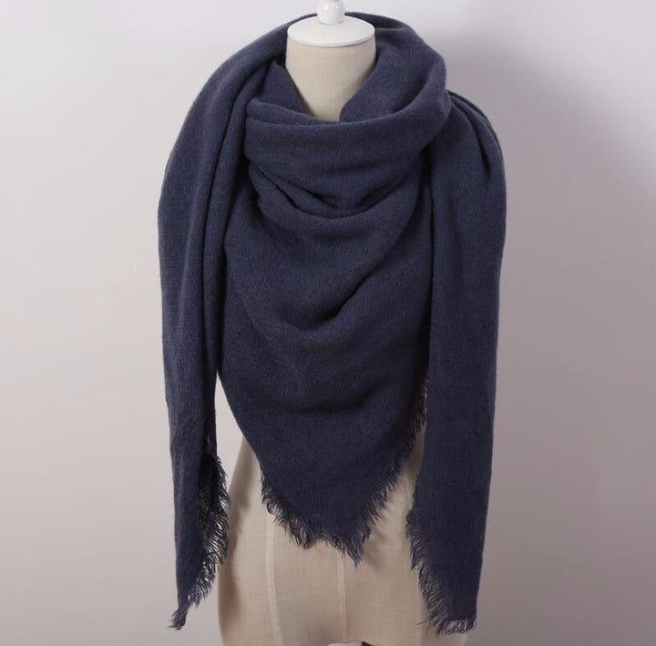 Unique Style Women's Solid Winter Warm Scarf - Zorket