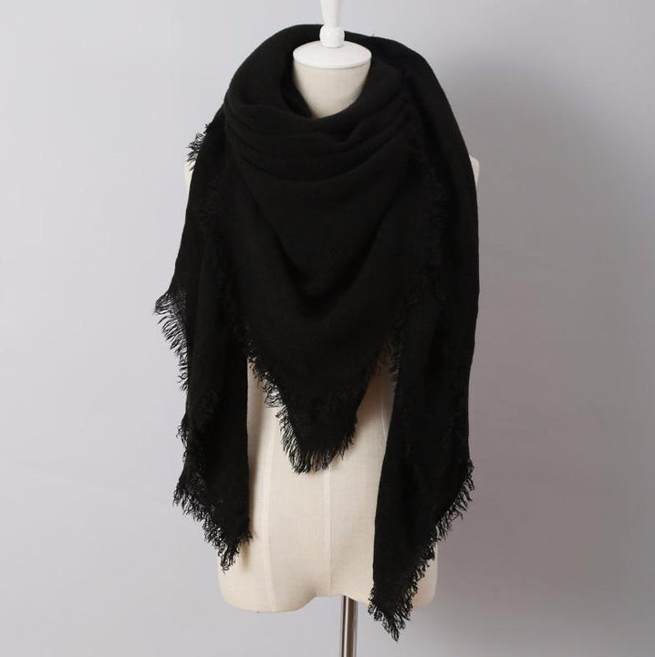 Unique Style Women's Solid Winter Warm Scarf