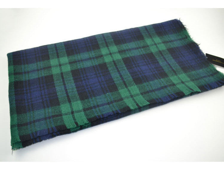 Winter Plaid Acrylic Warm Scarf - Zorket
