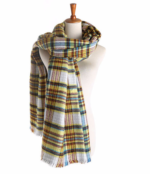 Scarf – Cashmere Winter Plaid Double-Sided Soft Scarf | Zorket