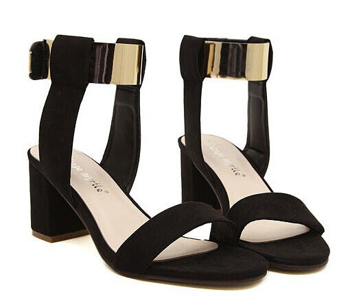 Nubuck Leather Women's High Heel Sandals - Zorket