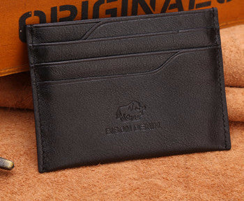 Thin Genuine Leather Card Case For Men - Zorket