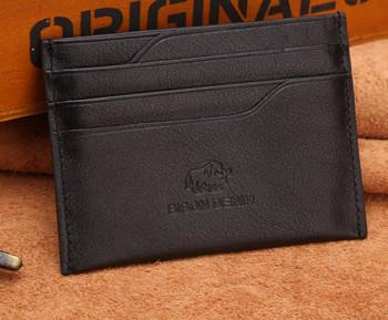 Thin Genuine Leather Card Case For Men