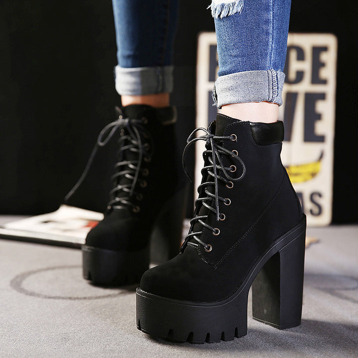 Boots – Fashion Autumn And Winter Platform Ankle Boots | Zorket