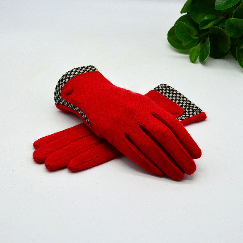 Autumn-Winter Women's Elegant Cashmere Gloves - Zorket