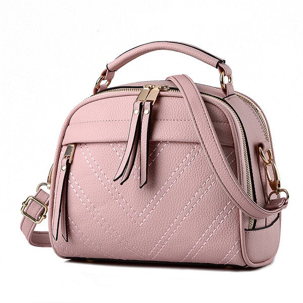 PU Leather Small Female Shoulder Bag - Zorket