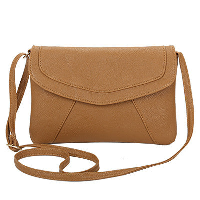 Vintage Casual PU Leather Crossbody Bag - Zorket
