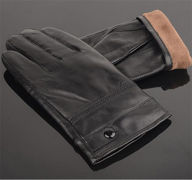 Men's Stylish Leather Gloves - Zorket