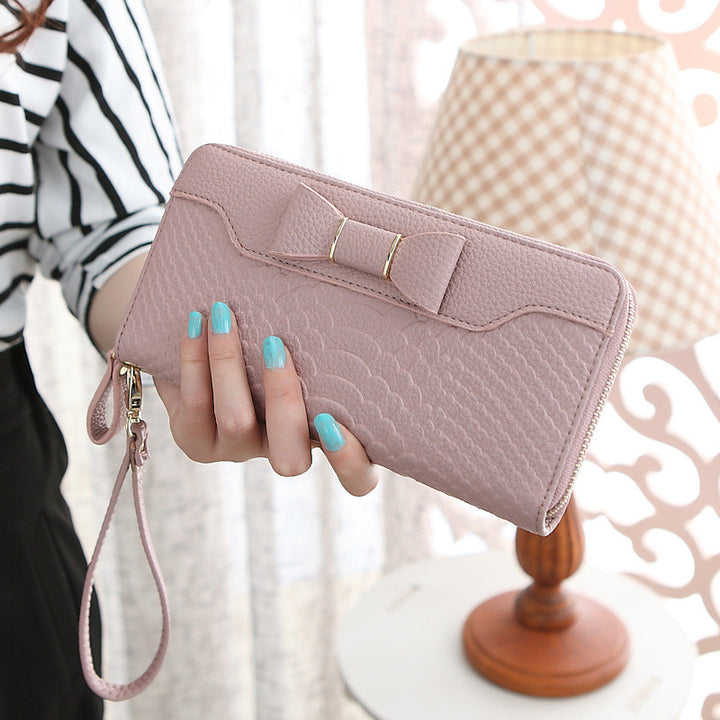 Women's Long Candy Color PU Leather Wallet Purse - Zorket