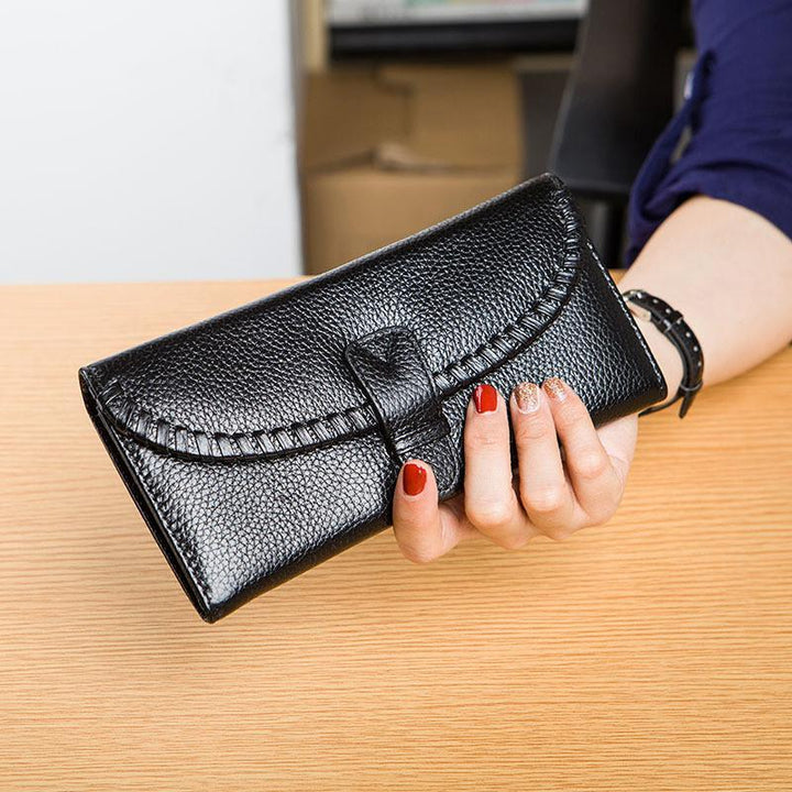 Female Genuine Leather Card Holder Phone Case Wallet