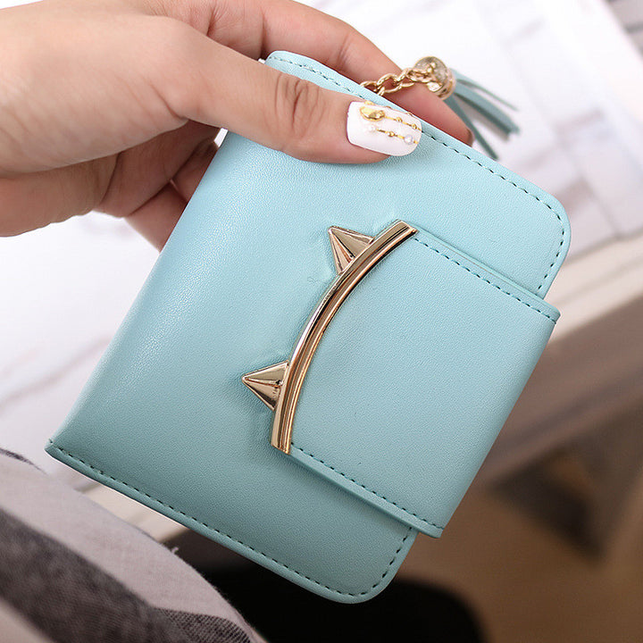 Women's Small Short PU Leather Wallet - Zorket