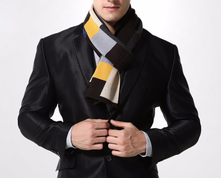 Stylish Winter Plaid Scarf For Men - Zorket