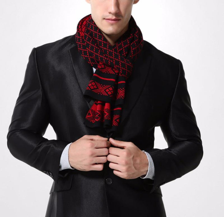 Men's Plaid Knitted Scarf