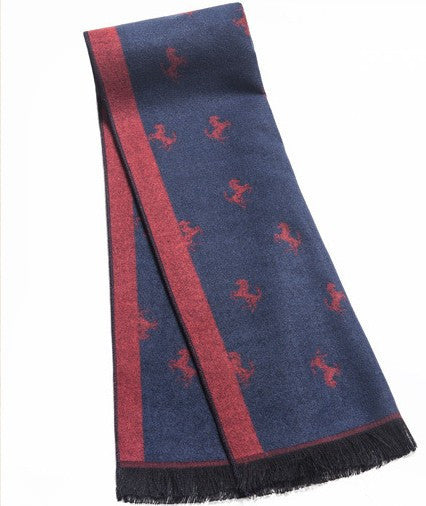 Stylish Men's Scarf With Pictures - Zorket