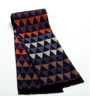 Casual Warm Scarf With Mix Plaid Color For Men