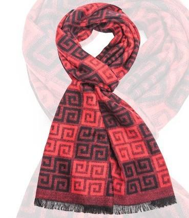 Male Wool Classic Plaid Scarf