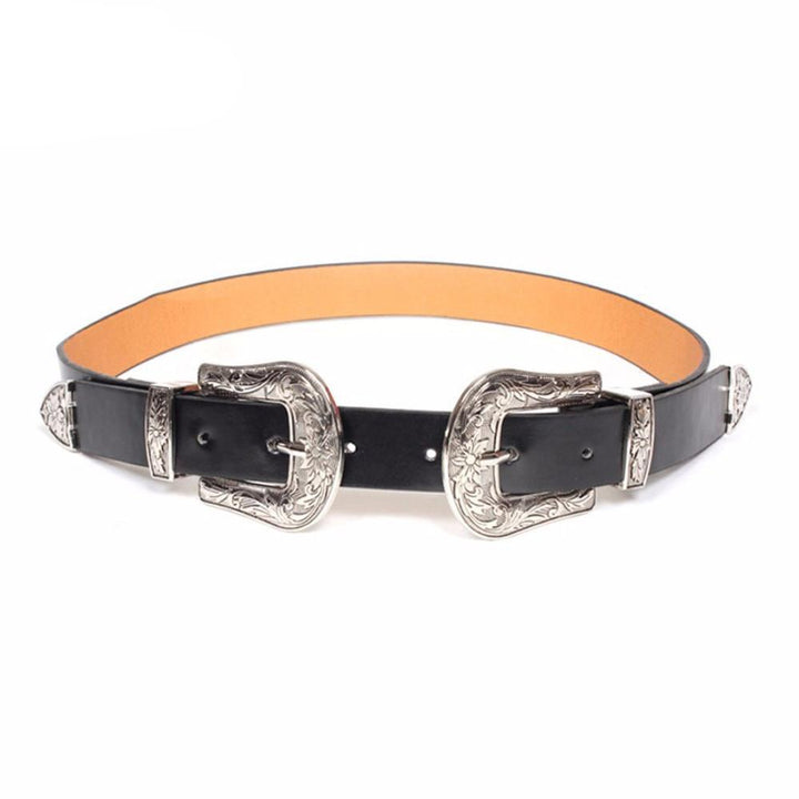 Vintage Metal Pin Buckle Leather Belt For Women