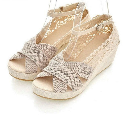Summer Female Lace Open Toe Sandals - Zorket